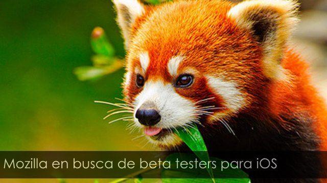 Mozilla en busca de beta testers para iOS