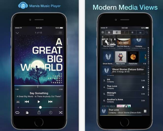 marvis music player para iOS