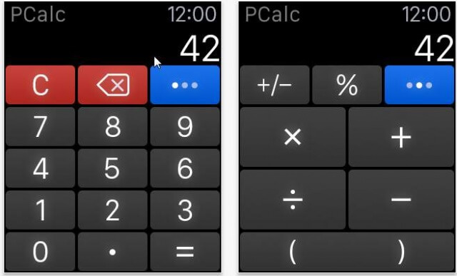 pcalc apple watch