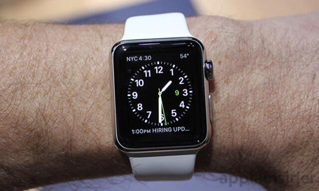 El diseño de Apple Watch no permite un cámara para FaceTime
