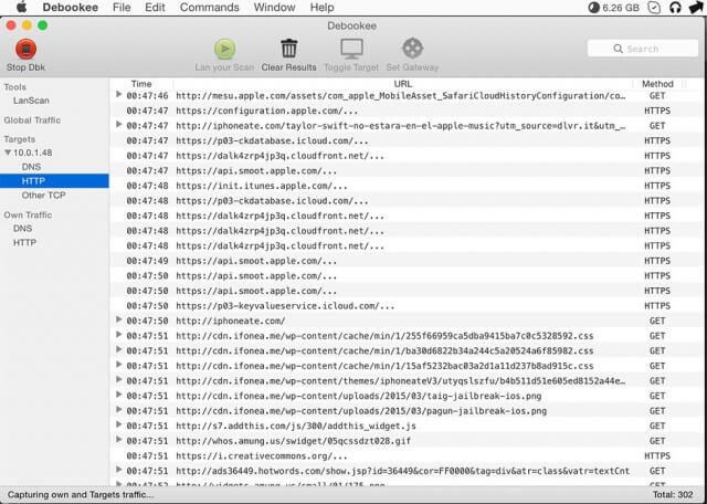 Análisis de captura de paquetes de datos en tiempo real