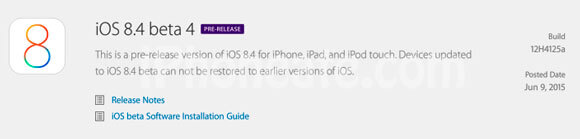 iOS 8.4 Beta 4 for Developers
