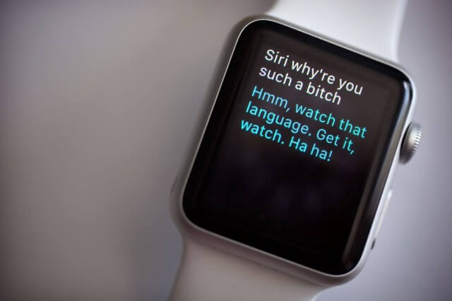Preguntándole la hora al Apple Watch