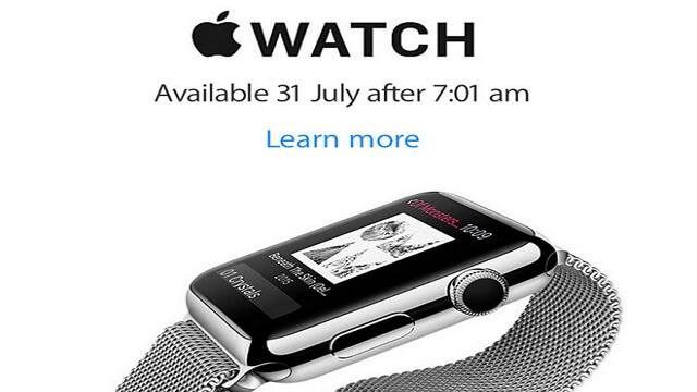 Apple Watch estaría disponible el 31 de Julio en Nueva Zelanda