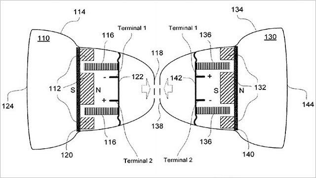 Apple desarrolla unos auriculares magnéticamente pegados