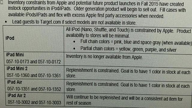 Apple limita el inventario de iPod, iPad Mini 2 y iPad Air a minoristas