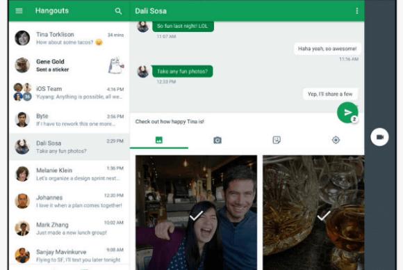 Google se tomó un momento con Hangouts para iOS