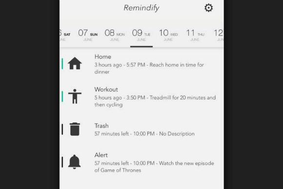 Remindify ofrece recordatorios con símbolos