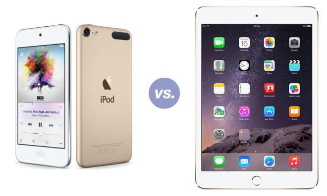 iPod Touch versus iPad 3, ¿cuál es mejor