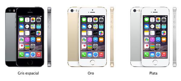 Modelos del iPhone 5S