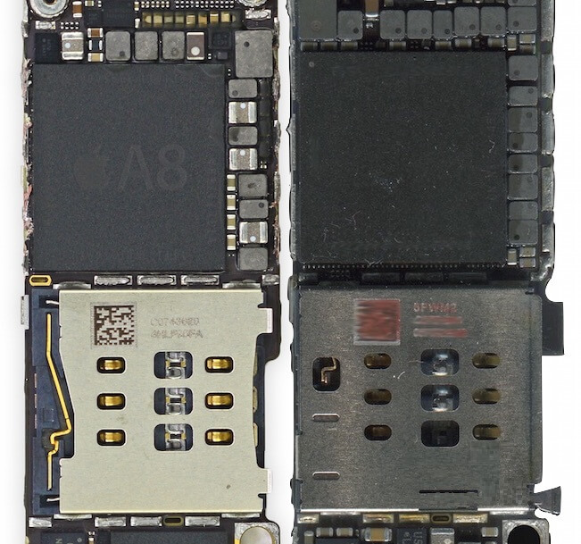 Chips del iPhone 6s