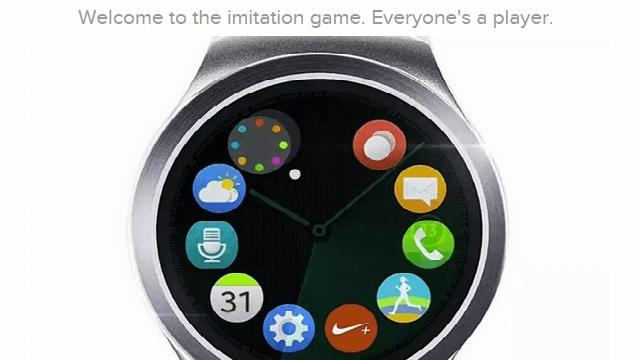 El Gear S2 copia los iconos de Apple Watch - copia