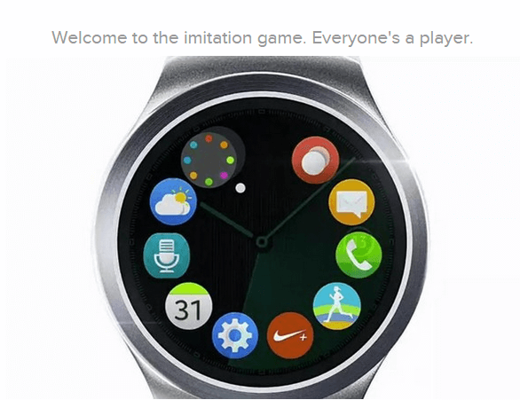 El Gear S2 copia los iconos de Apple Watch