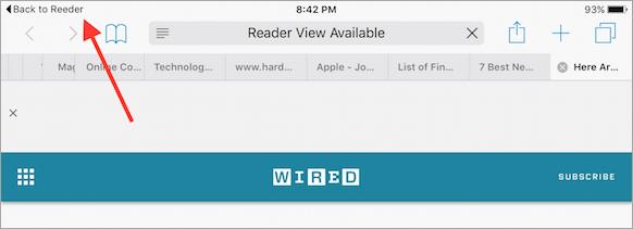 Nuevo botón de retroceso iOS 9