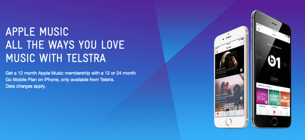 Telstra regala a sus usuarios de iPhone 6 y iPhone 6 Plus un año gratuito de Apple Music