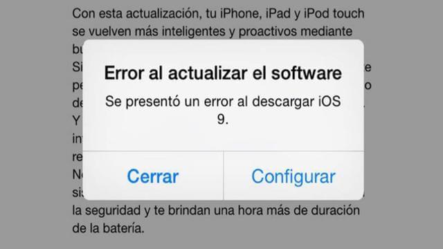 2 soluciones para combatir el error de descarga del iOS 9