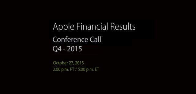 Apple dará a conocer sus ingresos de cuarto trimestre este 27 de Octubre