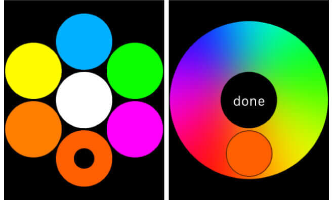 Cambiar colores del Touch digital en Apple Watch