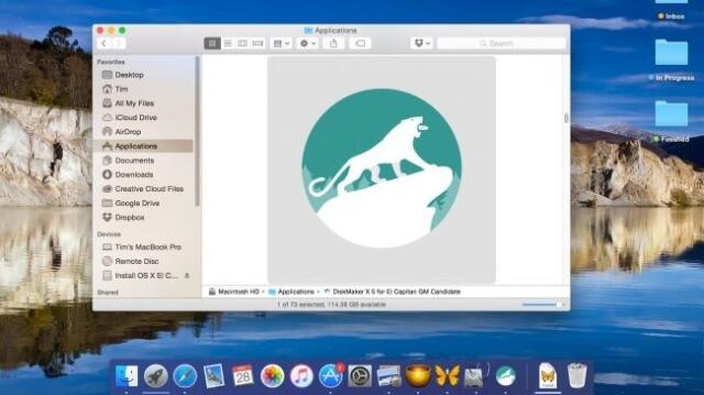 Descargar OS X 10.11 y DiskMaker X 5