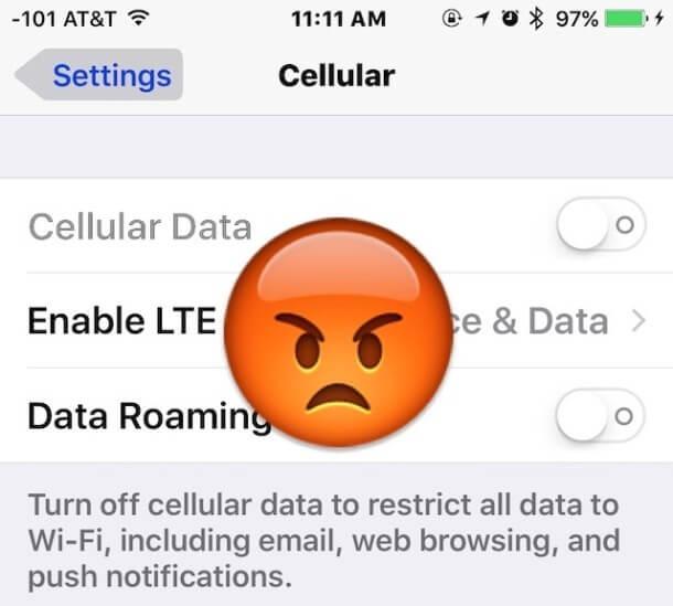 iOS 9: problemas con el uso de datos móviles