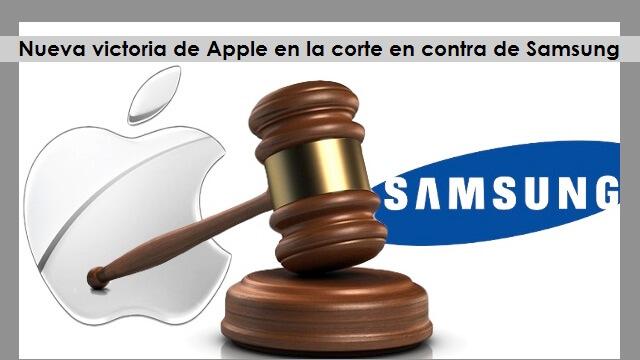 Nueva victoria de Apple en la corte en contra de Samsung