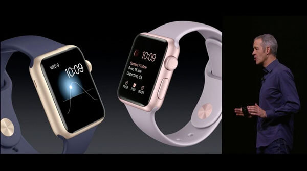 Jeff Williams presente las nuevas correas para el Apple Watch.
