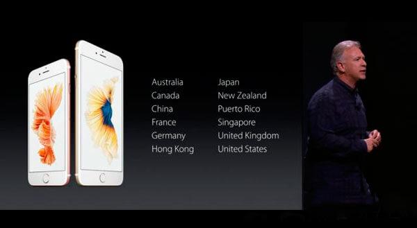 Países en los que estarán disponibles este 25 de Septiembre.
