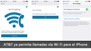 AT&T permite llamadas vía Wi-Fi para el iPhone