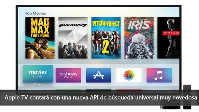 Apple TV contará con una nueva API de búsqueda universal muy novedosa