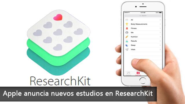 Apple anuncia nuevos estudios en ResearchKit