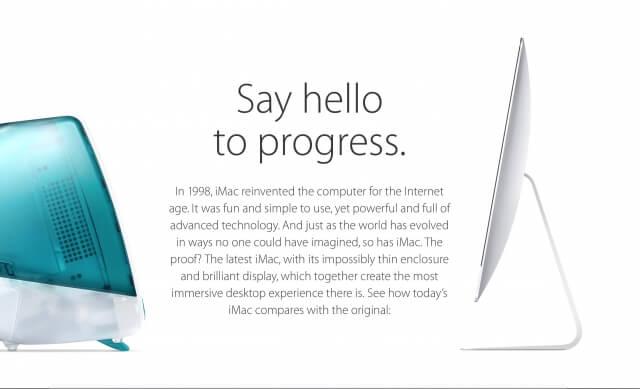 Apple compara su nuevo iMac con el original