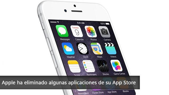 Apple ha eliminado algunas aplicaciones de su App Store