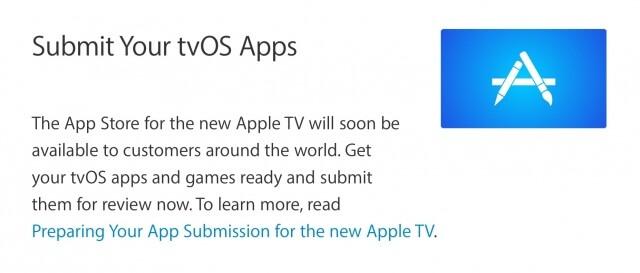Apple invita a los desarrolladores a enviar sus nuevas aplicaciones para tvOS