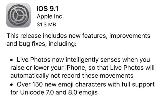 Apple lanza iOS 9 con 150 nuevos emoticones, fotos en vivo y muchas cosas más