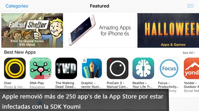 Apple removió más de 250 app's infectadas con la SDK Youmi