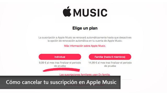Cómo cancelar tu suscripción en Apple Music