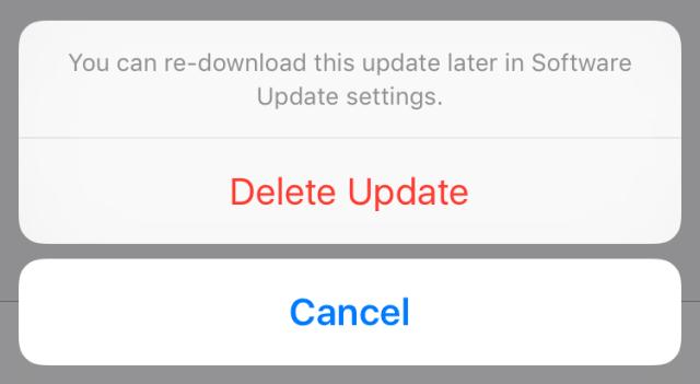 Cómo eliminar una descarga de actualización de software en tu dispositivo