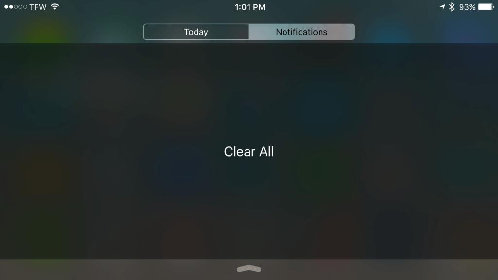 Cómo utilizar el Touch 3D para borrar todas las notificaciones