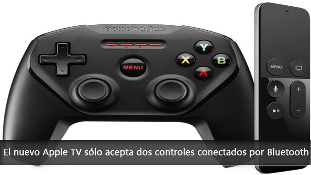 El nuevo Apple TV solo acepta dos controles conectados por Bluetooth