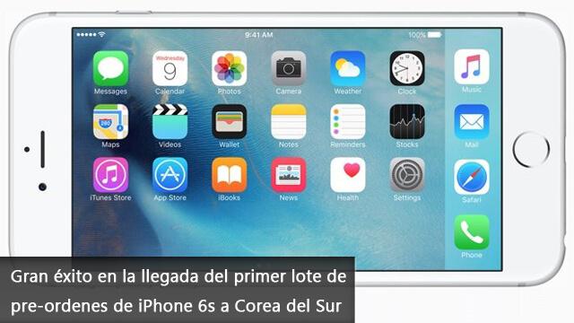 Gran éxito en la llegada del primer lote de pre-ordenes de iPhone 6s Corea del Sur