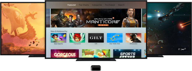 Interfaz de usuario del Apple TV 4