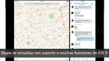 Nueva actualización de Skype para poder usar la función de pantalla divida en iOS 9 - copia