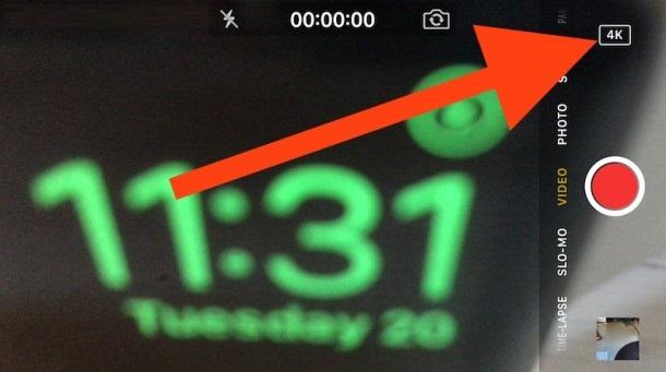Proceso de grabar un vídeo 4K desde la cámara de tu iPhone
