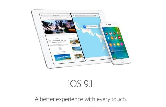 Ya está disponible la beta 5 de iOS 9.1