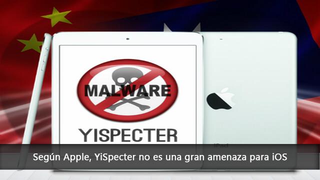 YiSpecter no es una gran amenaza para iOS