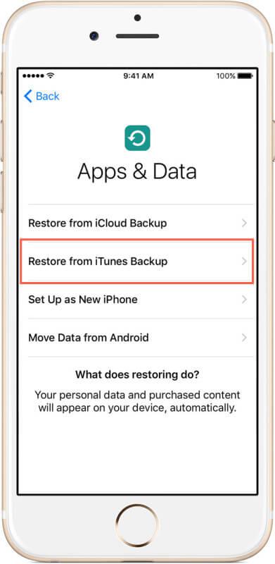 configurar su nuevo iPhone y transferir los archivos de la copia de seguridad
