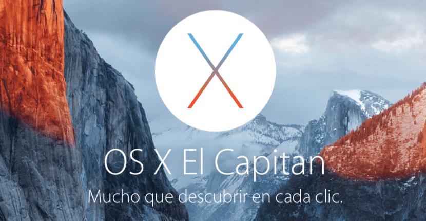 esta vendría siendo la primera actualización importante de OS X El Capitan