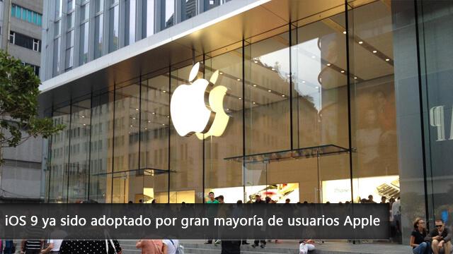 iOS 9 ya sido adoptado por gran mayoría de usuarios Apple