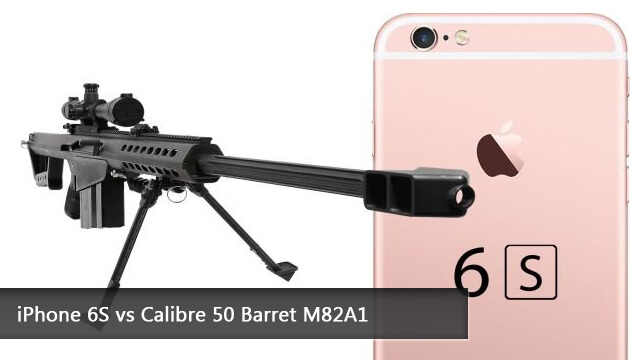 iPhone 6S vs calibre 50 Barret M82A1